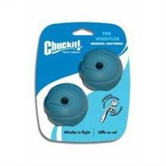 Chuckit! Medium The Whistler Ball 2.5-Inch, 2-Pack #Dogs #Pets #Toys #Accessories #Balls