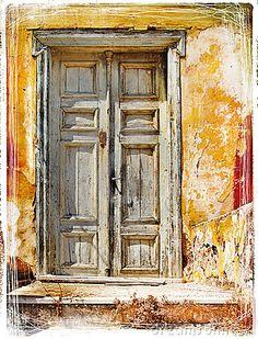 Old doors of Greek islands