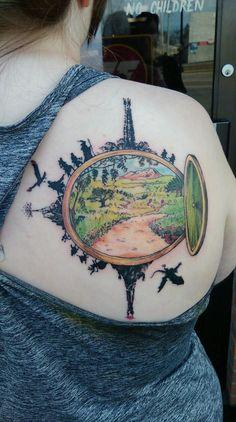 Through the hobbit hole. Tolkien Tattoo, Hobbit Tattoo, Lotr Tattoo, Piercing Tattoo, Ring Tattoos, Body Art Tattoos, Piercings, Tatoos, Nerd Tattoos