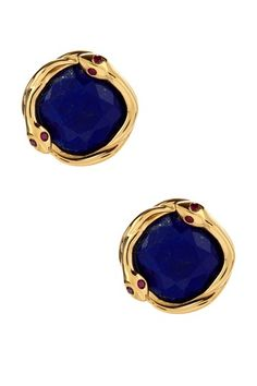Elizabeth and James Lapis & Ruby Snake Stud Earrings by Non Specific on @HauteLook