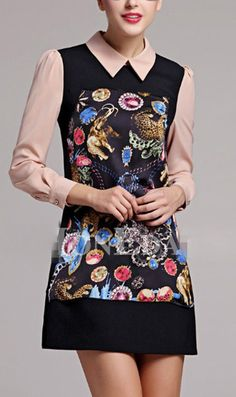 Cute Cheap Suit lapel long-sleeved dress 9179 - $19.8 Free Shipping Online Shopping Free Shipping