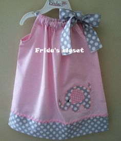 New summer elephant pillowcase style dress   I love the color combinations on this dress.