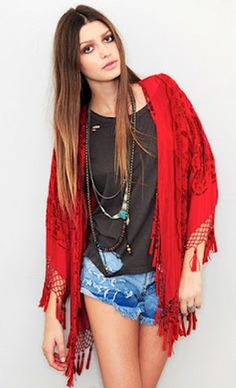I am really digging the kimono thing right now... #kimono #boho #gypsy