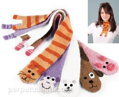made with the Addi Express - Salvabrani Baby Knitting Patterns, Loom Knitting Projects, Addi Knitting Machine, Circular Knitting Machine, Crochet Shawls And Wraps, Crochet Scarves, Knitting Scarves, Cat Scarf, Knitted Animals