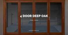 4 DOOR DEEP OAK Suits 3.1m - 3.5m Wide Opening. Order Online! Check out: http://www.nufold.com.au/products/4-door-deep-oak/ … #doors #wood #open #home #architecture #bifold #outdoors #outside #deep #design #flooring #woodworking #furniture