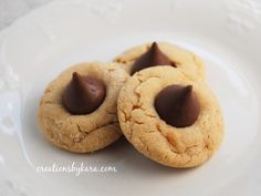 Peanut Butter Kiss Cookies on MyRecipeMagic.com