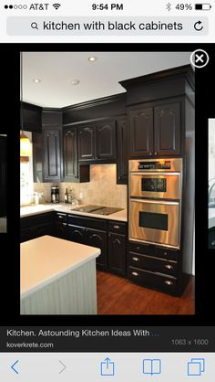 Home Interior, Black Kitchen Cabinets, the Amazing Kitchen Interior Design that Forgotten: Corner Kitchen For Black Cabinets Design Kitchen Soffit, Black Kitchen Cabinets, Painting Kitchen Cabinets, Black Kitchens, Kitchen Paint, Kitchen Redo, New Kitchen, Home Kitchens, Kitchen Black