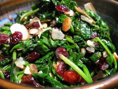 Hot Cranberry Spinach Salad  @Matty Chuah Paleo Mom