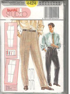 Men's pants sewing pattern, Burda 4424