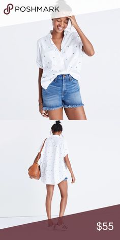 🌵 Madewell Embroidered Cactus Courier Shirt Small BACKORDERED ONLINE! Worn once, super cute cactus Courier shirt! Great for summer. In like new condition. 🚫Trades 🚫PayPal *Will post pictures of actual shirt later today* Madewell Tops Button Down Shirts