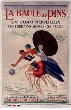 Title:  La Baule-les-Pins, its wonderful climate, woodlands, beach: [poster] / [Leonetto Cappiello] Author :  Cappiello, Leonetto (1875-1942). Illustrator Publisher:  [Sn]  Publisher:  [Print. Devambez] ([Paris]) Publishing date :  1926  (1017×1566)