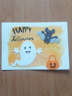 Deze kaart is gemaakt met het halloween snijmal setje van Marianne design de achtergrond is gemaakt met waterverf. Gemaakt door Elena💫 Marianne Design, Halloween, Happy, Atelier, Ser Feliz, Spooky Halloween, Being Happy