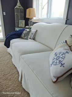 16 best before and after slipcover transformations images custom rh pinterest com