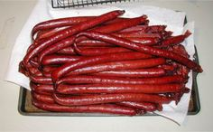 These pictures are of Jaegar's Beef sticks. To that end I added a standard Beef Stick Cure I've used a few Salami Recipes, Jerky Recipes, Smoked Meat Recipes, Sausage Recipes, Pepperoni Recipes, Meat Stick Recipe, Deer Recipes, Fire Cooking, Smoker Cooking