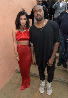 2/7/15 - Kim Kardashian + Kanye West at the Roc Nation 2015 Pre-GRAMMY Brunch in Beverly Hills.