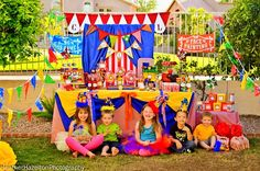 Cute Circus theme party table