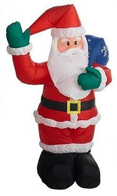 4-FT Airblown - Indoor Santa with Gift Bag (Discontinued by Manufacturer)
