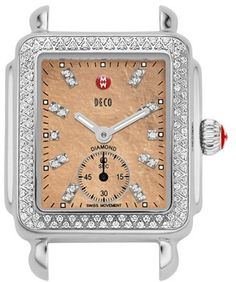 MICHELE 'Deco 16 Diamond' Diamond Dial Watch Case, 29mm x 31mm