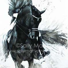 Sally Martin Equine art horse dressage oil painting