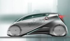 Futuristic Car, Braun - Urban Razor by Alberto Caruso, via Behance, Future Vehicle