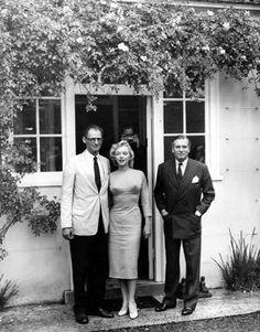 Arthur Miller, Marilyn Monroe & Sir Laurence Olivier. 1957