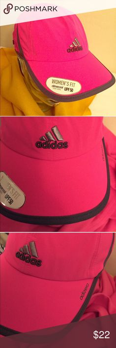 🎉HP 4/19🎉 Adidas Women's Adizero II Relaxed Cap RESTOCKED! JUST ONE MORE! 🎉Wardrobe Goals Party HP 4/19/17🎉 Authentic Adidas Women's Adizero II Relaxed Cap. Climacool. OS. Shock Pink. Grey Side Panels & Trim. Underbill is Grey and so is the Partial Lining. Embroidered Grey Adidas Logo on the Front. Adizero in Grey on the Left. Adjustable Back with Grey & Shock Pink Adidas Tab. 87% Polyester/13% Spandex. Brand New. Excellent Condition. No Trades. Adidas Accessories Hats