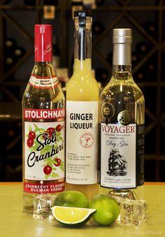 Cran-Ginger Fizz 1 Cup Stoli Cranberri Vodka 1 Cup Voyager Gin 1/2 Cup ...