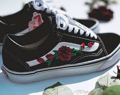VANS old skool custom - 'patch Rosa' - sneaker di EUR 34.5 - 47 unisex - Rose Sk8 Hi Tommy Hilfiger Ralph Lauren Helly Hansen Gucci