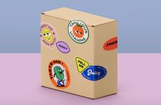 Passionfruit - Stickers on Behance Packaging Stickers, Craft Packaging, Food Packaging Design, Packaging Design Inspiration, Branding Design, Charity Branding, Identity, Design Graphique, Design Reference