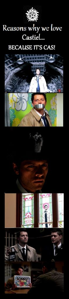 Why we  ♥The Trench Coat wearing Angel Castiel Supernatural  