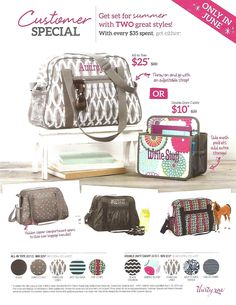 June 2015 Customer Special - check out the NEW All-In Tote in new prints! Want to try a Facebook party and earn this for FREE? Connect with me or shop www.mythirtyone.com/SherriMartin