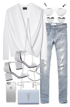Untitled #19680 by florencia95 on Polyvore featuring polyvore fashion style Abercrombie & Fitch Alexander Wang Yves Saint Laurent Monica Vinader Humble Chic clothing