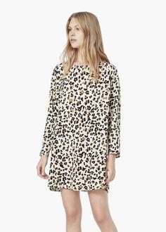 Leopard print dress - Dresses for Women   MANGO