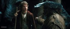 The most dangerous stunt in The Hobbit: An Unexpected Journey (more gifs at site) + an explanation of the powerfully emotional scenes in the movie, but not the book: Falling through the trapdoor: Behind the Scenes shooting of the stunt v. Final Version.  The Appendices to the Extended Edition of An Unexp...