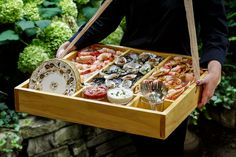 Hawker Box of Seafood Display Carried to Your Guests