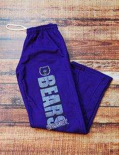 Keep warm and cozy in these awesome new UCA Bears Sweatpants! Go University of Central Arkansas Bears! Keep Warm, Warm And Cozy, Sweat Pants, Arkansas, Drawstring Backpack, Bears, University, College, Education