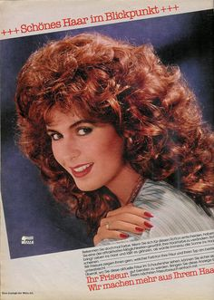 That lovely 80s hair. So pretty