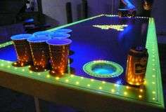 WVU Beer Pong Table-Beer pong tables with automatic ball washers and friggin' moats