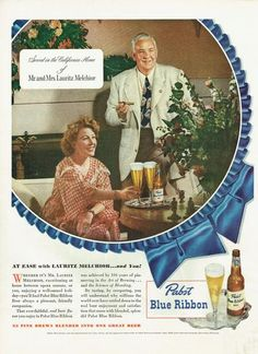 Vintage 1948 Papst Blue Ribbon Print-Ad for only $8.99