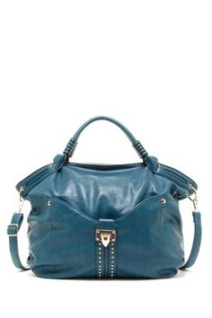 Stud Trim Large Hobo Bag Love everything about this bag!!! Color, style and color