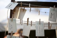 Mason Jar Place Cards #placecards By: Milk & Ice Cream