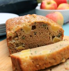 This Apple Zucchini Bread is the perfect fall loaf of bread. Hey friends, welcome back to Foodie Friday! Where every Friday of the month I, Sandra from A Dash of Sanity, will be sharing Quick Apple Dessert, Apple Desserts, Apple Recipes, Easy Desserts, Zucchini Bread Muffins, Zucchini Bread Recipes, Zucchini Cake, Fun Baking Recipes, Dump Cake Recipes