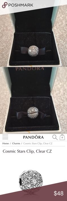 Pandora Cosmic Stars Charm Clip Pandora Cosmic Stars Charm Clip Sterling Silver Comes with Pandora Gift Box, Paper and Gift Bag Excellent Condition Jewelry