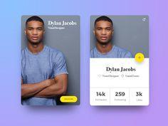 Designer's Social Profile Card