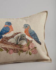 Bluebird Nest Pocket Pillow | Coral & Tusk Bluebird Nest, Bird Pillow, Woodland Critters, Mamas And Papas, Cherry Tree, Blooming Flowers, Kids Decor, Blue Bird, New Baby Products