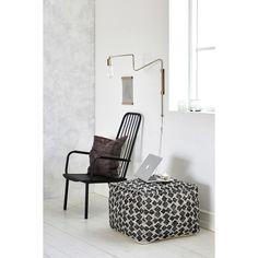 Mila sittepuff, hvit/grå – House Doctor – Kjøp møbler online på Room21.no