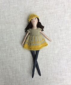Natalie is a dress-up cloth doll made for active, quiet and imaginative play for children of all ages. Made in a pet free, smoke free environment, she