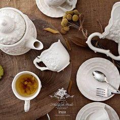 心底的花园。浪漫欧式立体浮雕茶壶咖啡杯碟茶具套装玫瑰花瓶摆件