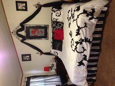 Red, Black & White Bedroom