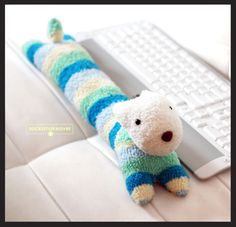 Extra Long Dog keyboard wrist rest 18 inches long by socksmakeover, $20.95